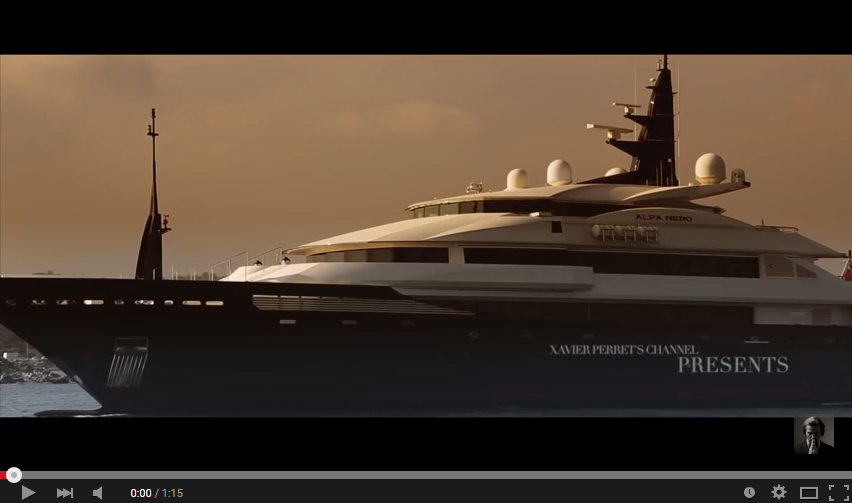 Superyacht Alfa Nero docking in Antibes Port Vauban